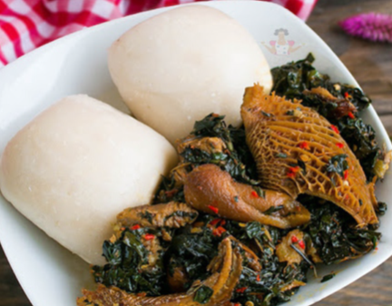 House of Stazia Fufu and Vegetable Soup